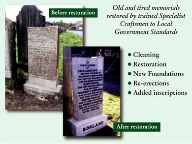 Gravestone Repair throughout Central Scotland